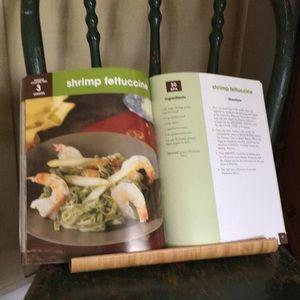IKEA Bamboo Cookbook Holder & Living Well Cookbook